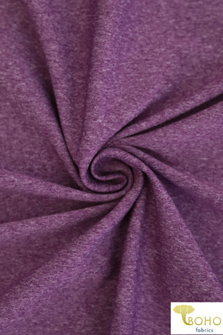 Brushed Nylon Spandex in Heathered Purple.  Heavy Weight. Use for Activewear and Yoga! ATH-103-PURP