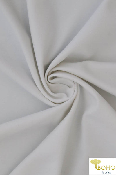 White Soft Nylon/Spandex Blend. Use for Activewear and Yoga!