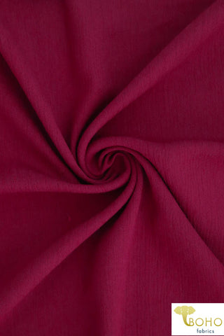Deep Red. Solid Rayon Crepe