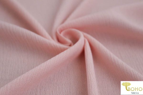 Light Pink. Solid Rayon Crepe