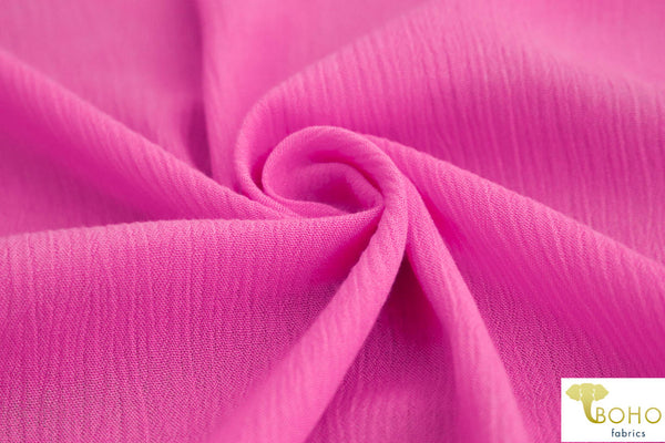 Bubblegum Pink. Solid Rayon Crepe