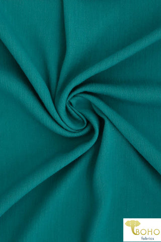Turquoise Green. Solid Rayon Crepe