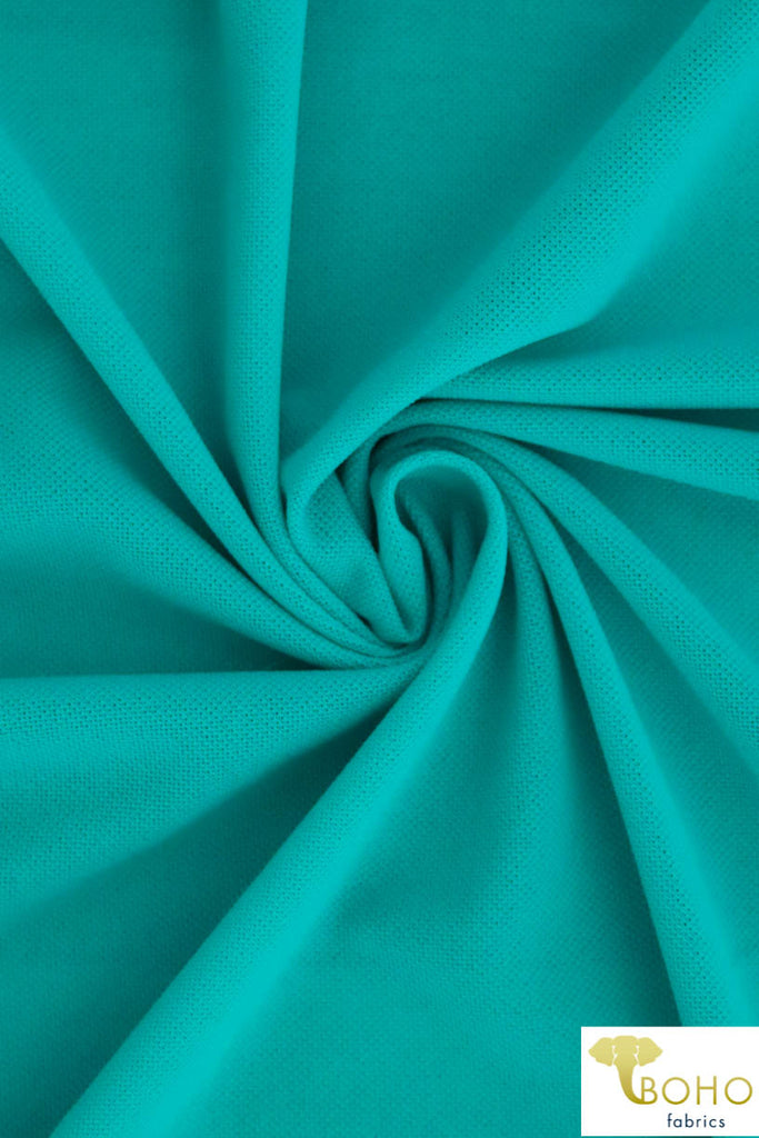 Teal Mesh. Polyester Lining Fabric