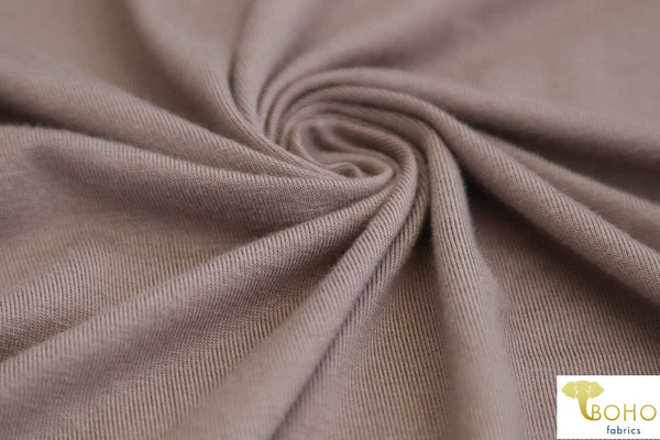 Taupe Sands Rayon Solid Knit Fabric