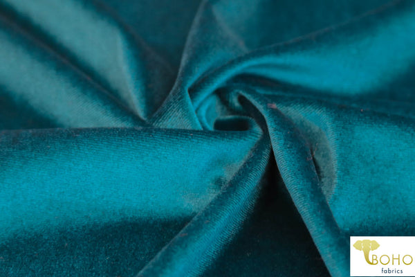 Teal Stretch Velvet Knit. SV-101