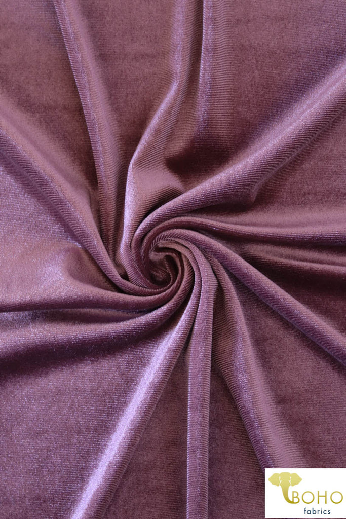 Mauve Purple Stretch Velvet Knit. SV-103