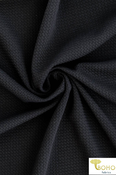 Black Liverpool. Knit Fabric.