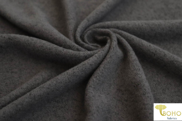3 Yard Last Cut! Dark Gray.  Brushed Tri Blend Sweater Knit. SWTR-118