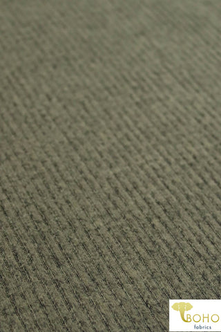 Marble Green. Brushed Ribbed Sweater Knit. RSWTR-117-GRN