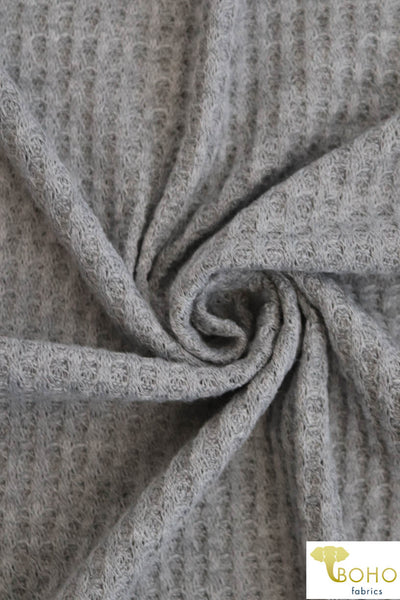 Medium Gray Waffle Knit Fabric. WAFF-109