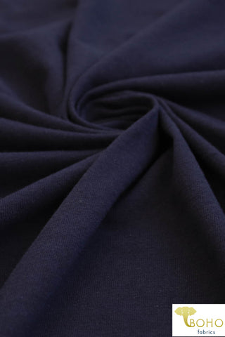Navy Blue. Cotton Jersey. JER-109.