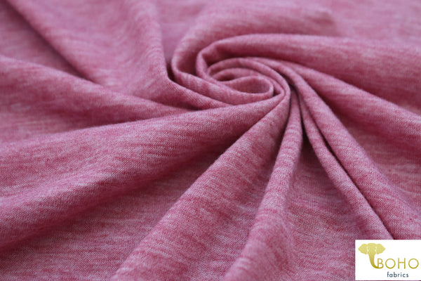 Heather Charm Pink. Soft Spun Poly Jersey. J-101.