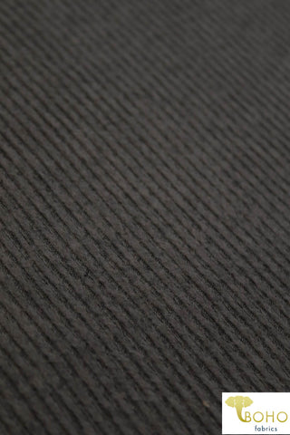 Marble Black/Mocha. Brushed Ribbed Sweater Knit. RSWTR-117-BRWN