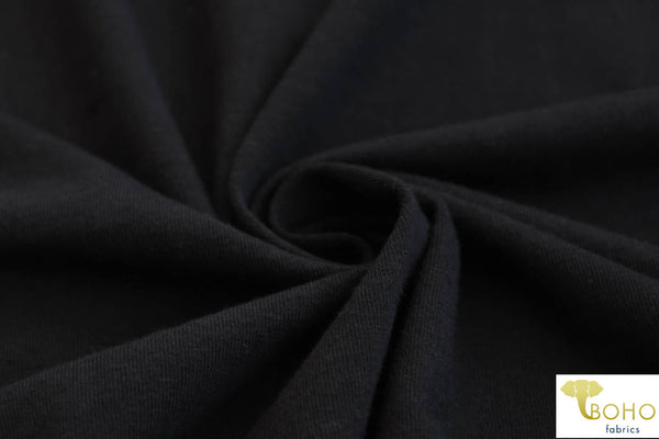 Black 10 oz. Cotton Lycra. CL-101.