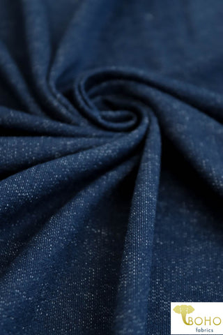 """Denim Style"" Indigo Blue. Soft French Terry.  FT-105-BLU."