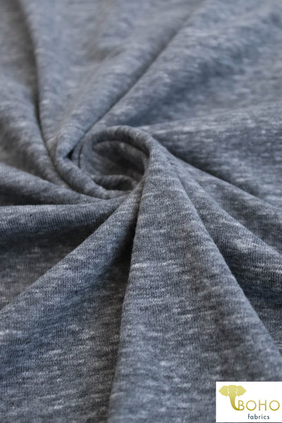Heather Gray Jersey Backed w/Black Knit. Double Layer Knit. JER-110.