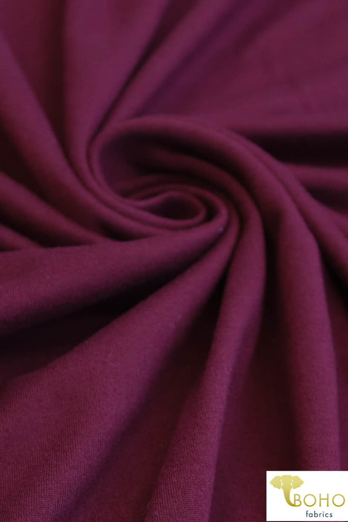 Burgundy Double Brushed Poly Knit Fabric. BP-101