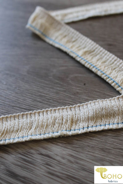"Perfect Mini Fringe in Ivory. 5/8"" Woven Fringe."