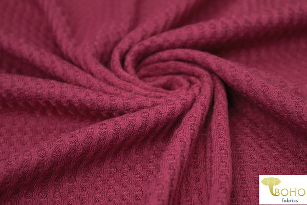 Berrice. Waffle Knit Fabric. WAFF-659 R/S-BR