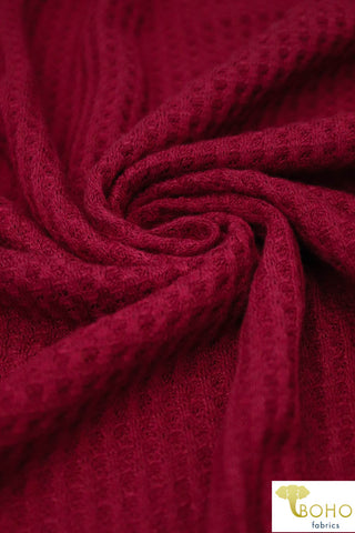 Ruby. Waffle Knit Fabric. WAFF-659 R/S-RBY