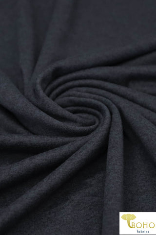 4-Way Stretch, French Terry: Gray.  Solid Knit Fabric.  Cotton/Spandex Blend, 14oz