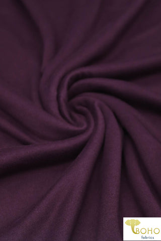 Plum.  Double Brushed Poly Knit Fabric. BP-668-P