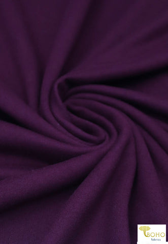 Boysenberry Purple. Double Brushed Poly Knit Fabric. BPS-206