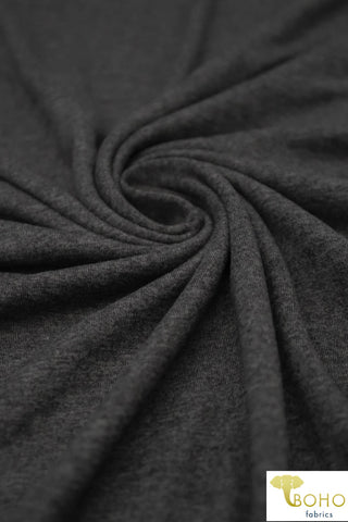 Charcoal 2-Tone.  Double Brushed Poly Knit Fabric. BP-668-CH2-TONE