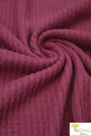 Berrice. Brushed Waffle Knit Fabric. BWAF-707-BR