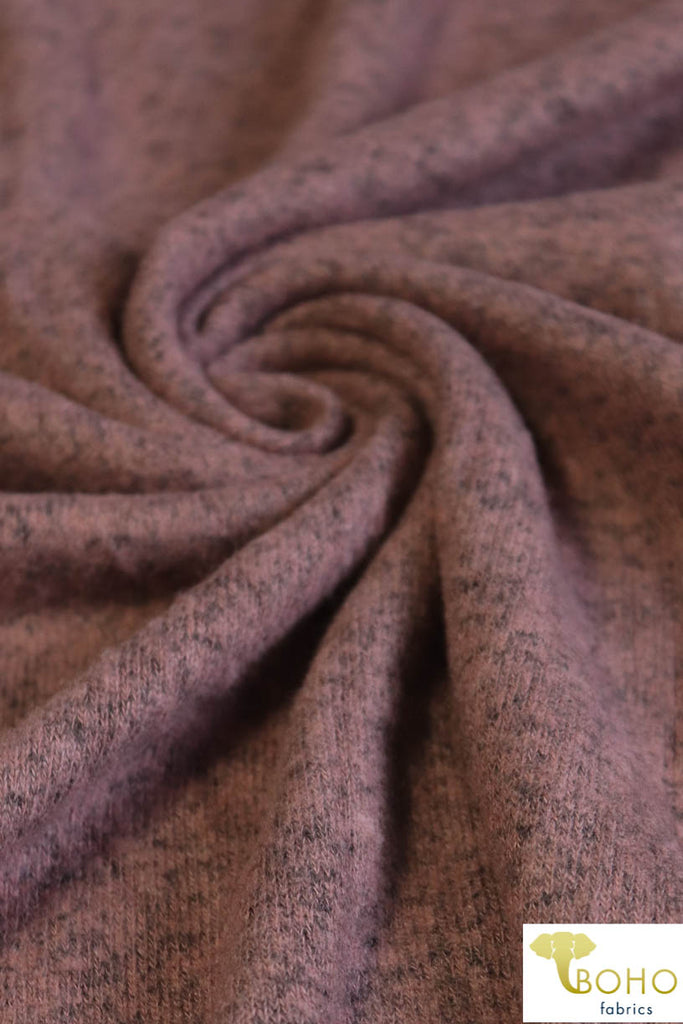 Earthen Mauve. Brushed Tri Blend Sweater Knit. 769-RYV RICH HB-MD