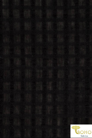 Sheer Grid in Black. Lightweight/Sheer Cotton Woven. WV-133