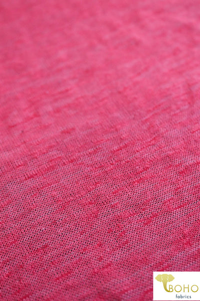 Ruby Red Grapefruit. Lightweight Slub Sweater Knit. SWTR-195. *Slightly Off-Grain