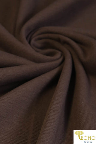 Smokey Brown. Cotton Lycra Knit. CL-451-SB.
