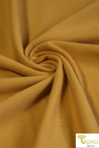 1 Yard Last Cuts! Mustard. Cotton Lycra Knit. CL-451-MSTD.