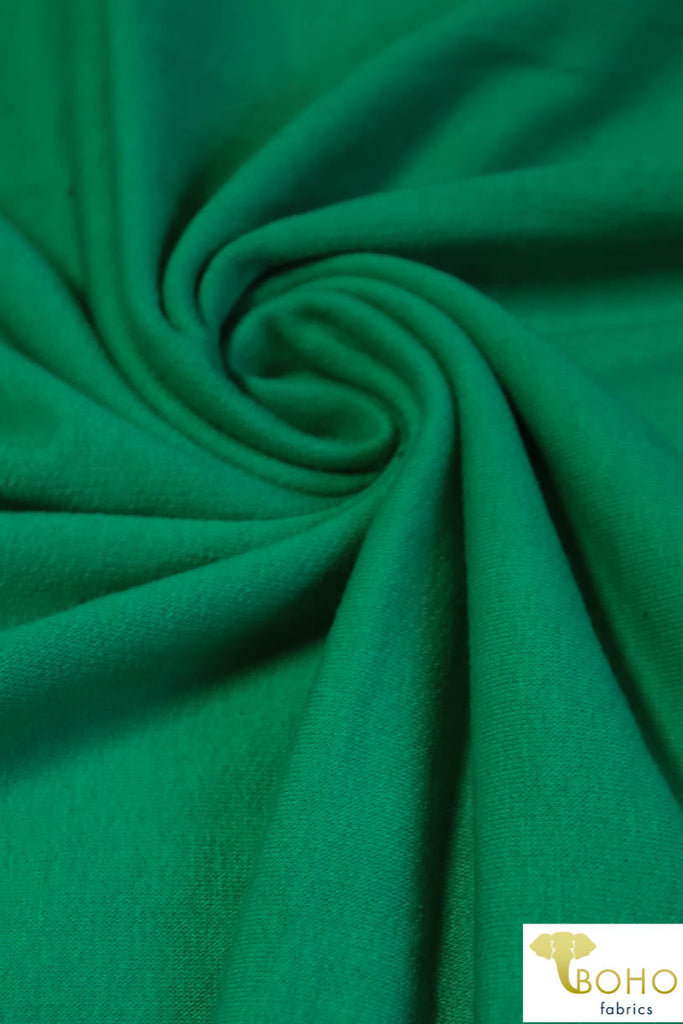 Kelly Green. Cotton French Terry. CLFT-938-KG