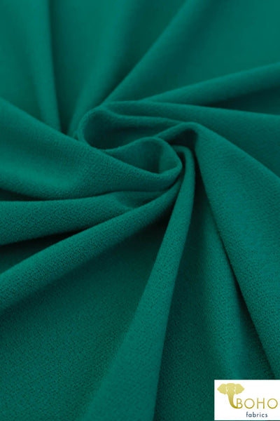 Brilliant Jade. Poly Crepe Knit.