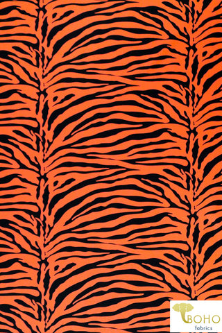 Neon Tiger in Orange. Swim Print/Activewear. SW-007-ORG