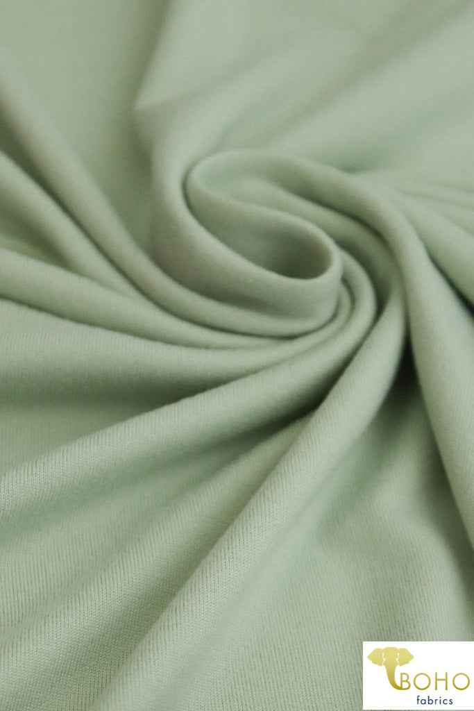 DBP: Pistachio . Double Brushed Poly Knit Fabric. BP-127