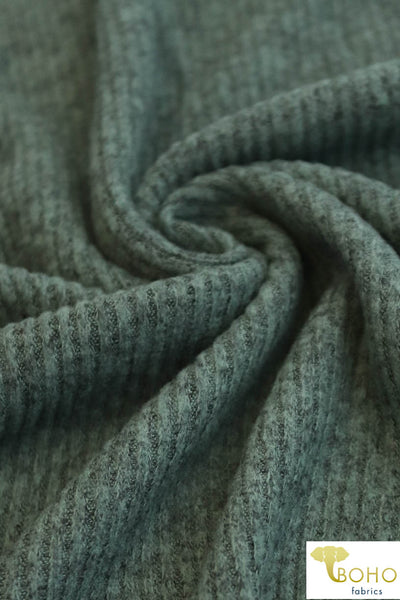 Dusty Green. Ribbed Brushed Tri-Blend Sweater Solid. 770-2X2-HAC RIB-DG