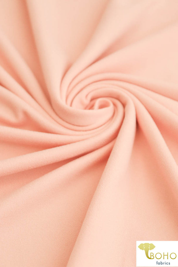 DBP: Peach. Double Brushed Poly Knit Fabric. BP-126