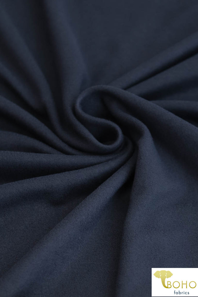 DBP: Navy. Double Brushed Poly Knit Fabric. BP-132