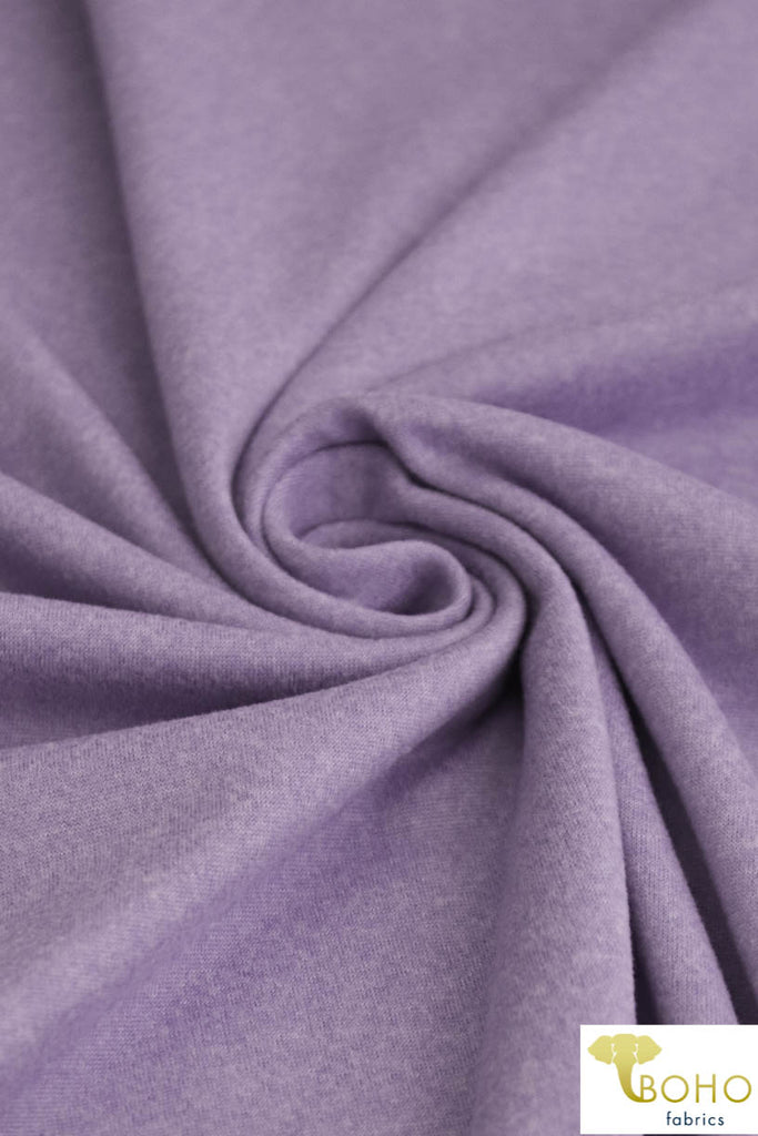 DBP Space Dye: Heather/2-Tone Lilac Purple . Double Brushed Poly Knit Fabric. BP-119-PURP