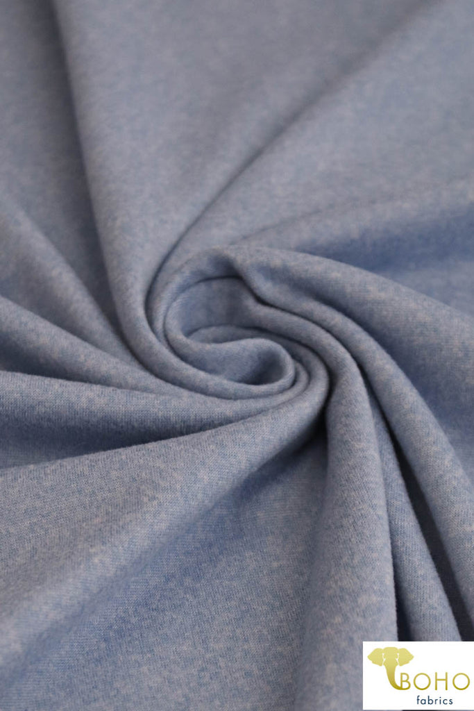 DBP Space Dye: Heather/2-Tone Sky Blue . Double Brushed Poly Knit Fabric. BP-119-BLU