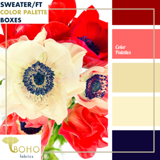 """Poppy Parade""  Sweater/French Terry Knit Palette Bundle"
