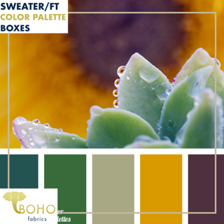 """Savory Succulents""  Sweater/French Terry Knit Palette Bundle"
