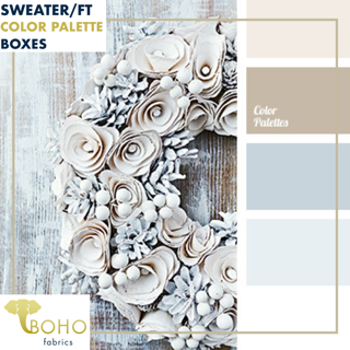 """Winter Wreath""  Sweater/French Terry Knit Palette Bundle"