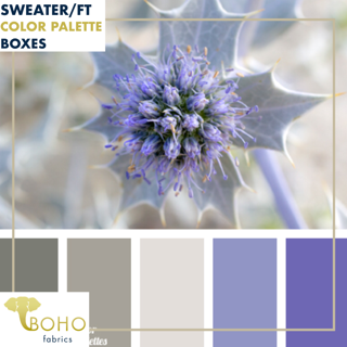 """Purple Thistle""  Sweater/French Terry Knit Palette Bundle"