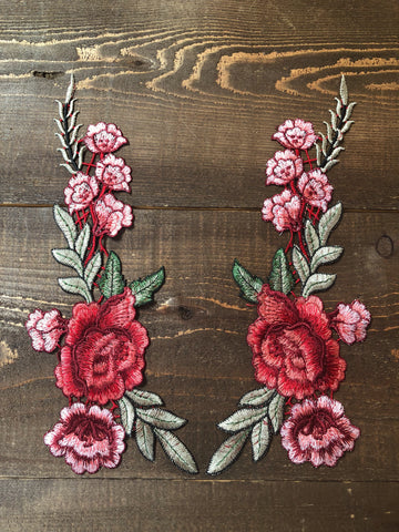 Spanish Rose Appliqué Set. Style #ra-03