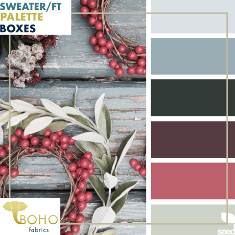 """Sage Wreath""  Sweater/French Terry Knit Palette Bundle"