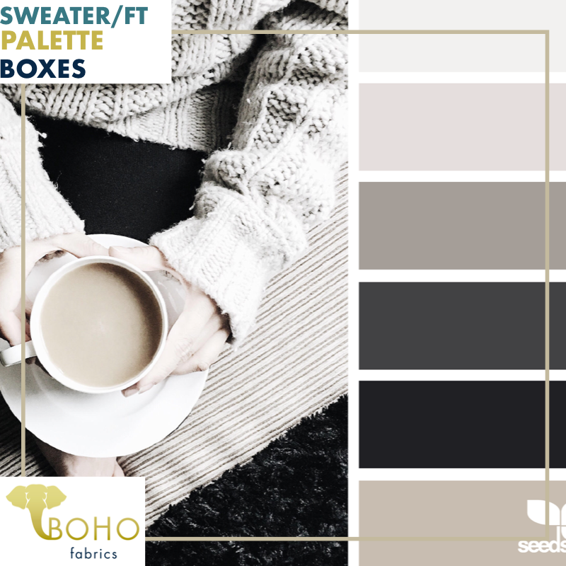 """Coffee Comfort""  Sweater/French Terry Knit Palette Bundle"